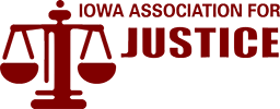 Logo Recognizing Northern Plains Justice, LLP's affiliation with Iowa Association for Justice